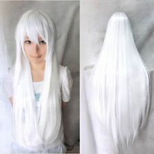 """Anime Cosplay Full Wig 6Style 19""""-40"""" Pink Blonde Red Brown Black Grey  COS Wigs"""