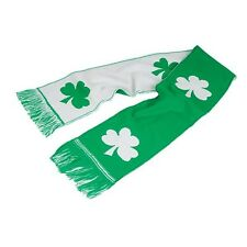 "IRISH SHAMROCK SCARF!!! Ireland St Patrick's Day Green & White 48"" x 7"" winter"