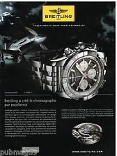 Publicité Advertising 2010 La Montre Breitling Chronomat B01