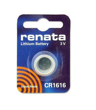 Renata Swiss Made Lithium CR1616 Cell Coin Button Battery 3V Trendy x 10
