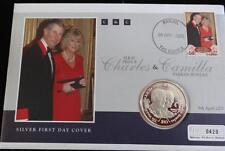 2005 Sierra Leona prueba De Plata $10 Moneda PNC + certificado De Autenticidad Charles y Camilla Boda