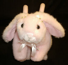 Boutique Toby N Y C Pink Sparkle Lop Eared Plush Bunny Rabbit Purse Bag Tote