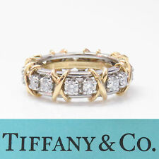 NYJEWEL Tiffany & Co. Schlumberger 18k Platinum 'XO' 1.75ct Diamond Wedding Ring