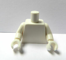 LEGO 1 Plain  Body Torso For Female Girl Boy Man  Minifigure White White Hands