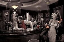 Java Dreams Art Poster Print 36x24 Classic Bar theme contrast holywood favorites