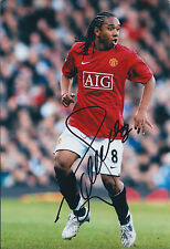 ANDERSON Signed Autograph 12x8 Photo AFTAL COA Manchester United AIG Shirt