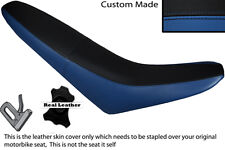BLACK & ROYAL BLUE CUSTOM FITS MZ 125 SM LEATHER DUAL SEAT COVER ONLY