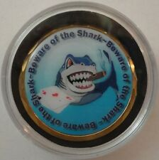BEWARE OF THE SHARK Spinner Poker Card Guard Cover Protector