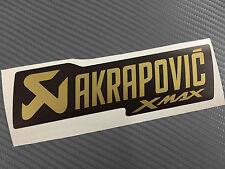 1 Adesivo Stickers AKRAPOVIC Xmax X max GOLD Edition resistente al calore