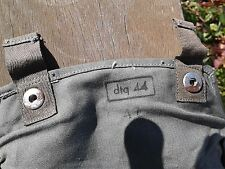 WWII GERMAN ARMY M.31 GAS MASK CAPE POUCH 1944 DATED & DTG MKED WW2 GASMASK CASE