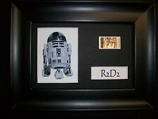 R2D2 Framed Movie Film Cell Memorabilia - Compliments dvd poster book