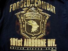 VINTAGE US Army 101st Airborne Division Military FORGED IN COMBAT  T-Shirt XL
