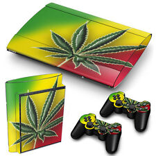 SuperSlim ps3 playstation 3 peau autocollants PVC pour console & 2 pads cannabis