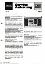 Service Manual-Instructions pour Grundig C 9000