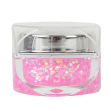 15ml Nail Art Pink Glitter Color Clear UV Gel Builder Decoration Gel Polish 48#
