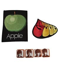 The Beatles Apple, Soul, Heads Embroidered Logo Iron On Patch Set of 3 Patches