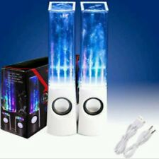 WHITE WATER DANCING SPEAKERS STEREO MUSIC LED FOUNTAIN LIGHT FOR IPAD IPHONE PC