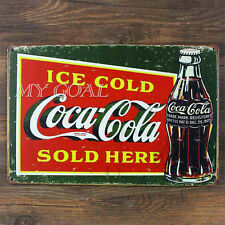 Coca Cola Metal Tin Sign Vintage Cafe Plaque Pub Bar Wall Decor Retro Poster