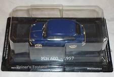 Modellauto Fiat 600 (1957) blau 1:43 - NEU in OVP