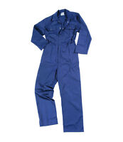 Mens / Ladies Boilersuit Coverall Overalls Workwear Stud Front College Mechanics