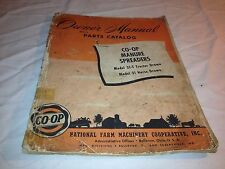 Owners Manual & Parts Catalog CO-OP Manure Spreaders Model 31-T and 31