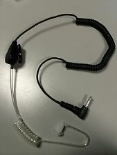 3.5mm FBI Style Clear Tube Listen Only Headset with 6 Mushroom Tips