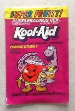 VINTAGE PURPLESAURUS REX KOOL AID UNOPENED ** RARE ** SEALED FULL PACKET