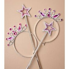 6 princess tiara fairy butterfly wand hen dressing up job lot wholesale HF543