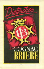 "ADVERT "" Mini Poster "" Vineyard Wine Cognac Briere E Merlin Jarnac John Exshaw"