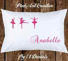 Ballerina Dancer With Personalized Name Pillow case Great for Little Girl Gift