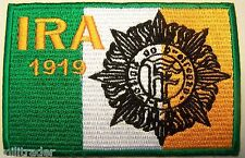 Irish Republican Army (IRA)  / Defence Forces Insignia Flag Patch (V2)