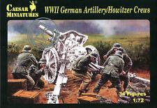 Caesar Miniatures 1/72 084 WWII German Artillery/Howitzer Crews (32 Figures)