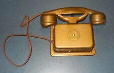 VTG ANTIQUE SERV-U-FONE OLD WALL PHONE AMERICAN ELECTRIC CO CHICAGO IL ART DECO