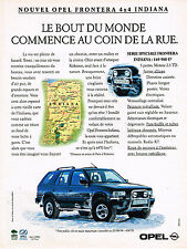 PUBLICITE ADVERTISING 025  1994  OPEL  nouvel FRONTERA 4X4  INDIANA