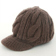 Fashion Women Girl Winter Warm Knitted Ski Beanie Peaked Hat Cap Coffee color