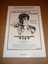 """F.I.S.T."" (Sylvester Stallone/Rod Steiger/Peter Boyle) 1978 UK Campaign Book"