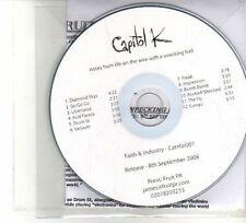 (DW43) Capitol K, Notes From Life On The Wire With A Wrecking Ball - 2008 DJ CD