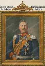 W. Pape Wilhelm II. Uniform Kaiserkrone Wappen Adel 25. Regierungs-Jubiläum 1913