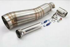 Universal Stainless 51mm Motorcycle GP Exhaust Can Muffler Silencer Slip-On Pipe