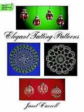 ELEGANT TATTING PATTERNS, book, Janet Carroll, 1996, 44 designs, doilies, more