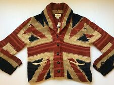 Ralph Lauren Denim and Supply Union Jack UK Flag Shawl Caridgan-Womens $245- L