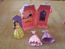 Polly Pocket Disney Princess Belle Beauty & the Beast House Playset Clothes  D24