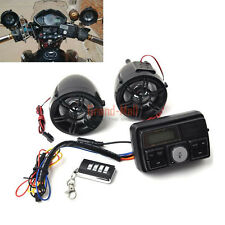 Motorcycle Handlebar Audio System Anti-theif USB SD FM Radio Stereo MP3 Speakers