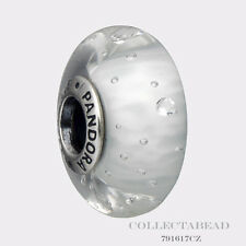 Authentic Pandora Sterling Silver Murano Clear Effervescence Bead 791617CZ