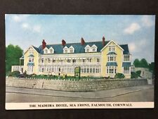 Vintage Postcard - Cornwall #33 - RP Madeira Hotel, Sea Front, Falmouth