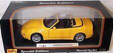 Maserati Spyder en amarillo 1-18 escala nuevo en caja