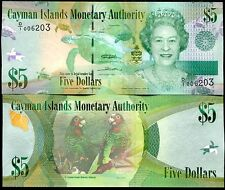 CAYMAN ISLANDS 5 DOLLARS 2010 (2011) QEII P 39 UNC
