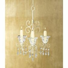 10 WEDDING HANGING SHABBY ELEGANCE CANDLE HOLDER CHANDELIER DECORATION--38369