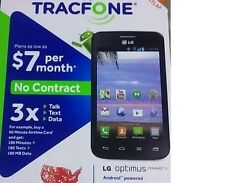 Tracfone LG Android Smartphone, Triple Minutes, Texts, Data for LIFE, Black