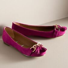New Women's Elle Ballet Tassel Flats Shoes Color - Magenta; Size:7.5